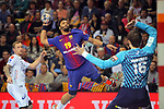 VELUX EHF 2017/18 EHF Men's Champions League Last 16.<br /> FC Barcelona Lassa vs Montpellier HB: 30-28.<br /> Timothey N'Guessan vs Nikola Portner.