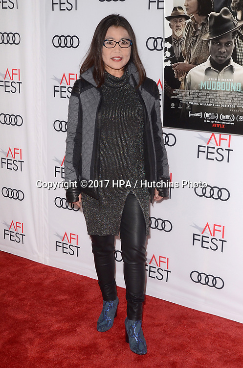 "LOS ANGELES - NOV 9:  Mako Kamitsuna at the ""Mudbound"" Opening Gala of AFI Fest 2017 at the TCL Chinese Theater IMAX on November 9, 2017 in Los Angeles, CA"