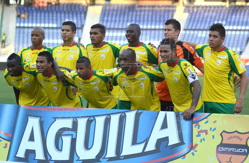 BARRANQUILLA  -COLOMBIA, 18-FEBRERO-2015. Formacion  del Real Cartagena    contra el Atletico Junior   durante partido por la fecha 1 de la Copa  çguila I 2015 jugado en el estadio Metropolitano  de la ciudad de Barranquilla./ Team  of  Real Cartagena  against Atletico Junior during the match for the first date of the Aguila Cup I 2015 played at Metropolitano  stadium in Barranquilla city<br />  . Photo / VizzorImage / Alfonso Cervantes / Stringer