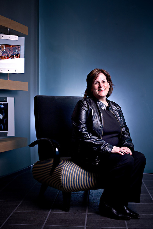 Lisa Namerow, Vice President AOL Radio, SHOUTcast, Moviefone and AOL TV, photographed at AOL Headquarters in Dulles, VA