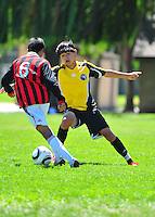 BUSC U14 Premiere battle AC Milan at the  2010 BUSC Summer Classic participants in Pleasanton California August 14, 2010. (Photo by Alan Greth)