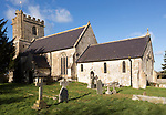 Historic village parish church of Saint Nicholas, Wilsford, Wiltshire, England, UK Vale of Pewsey