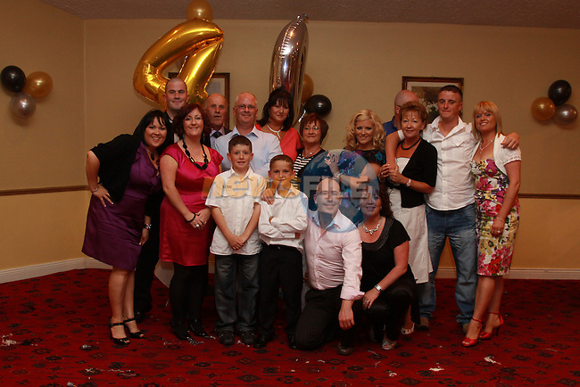 Richard Byrne celebrating his 40th Birthday with his wife Denise and kids Keane, Kyle and Ryan and family in the Boyne Valley Hotel.Picture: Fran Caffrey/Newsfile.ie
