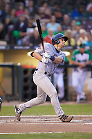 Chris Betts (26) of the Bowling Green Hot Rods follows through on his swing against the Dayton Dragons at Fifth Third Field on June 8, 2018 in Dayton, Ohio. The Hot Rods defeated the Dragons 11-4.  (Brian Westerholt/Four Seam Images)
