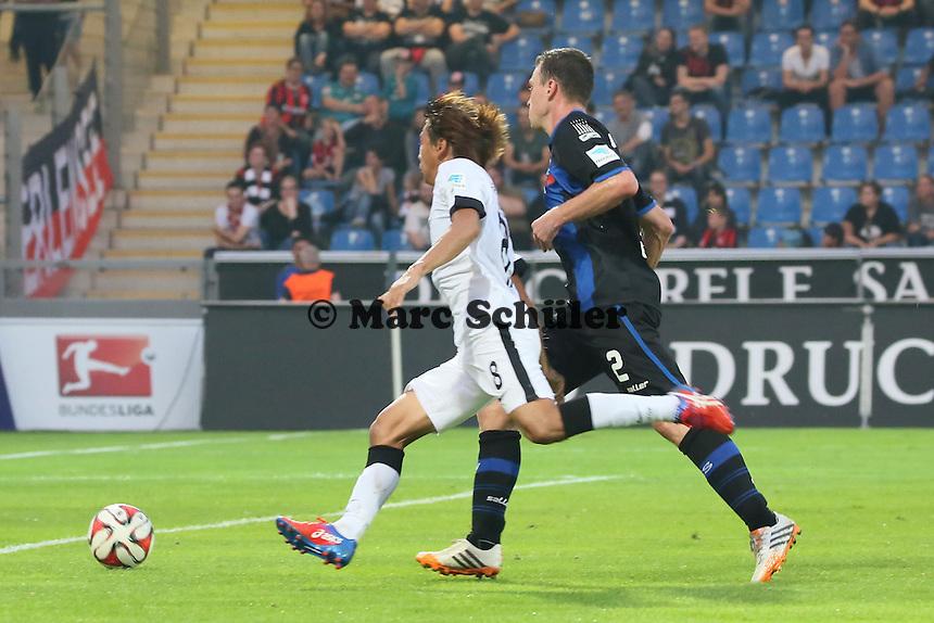 Takashi Inui (Eintracht) gegen Hanno Balitsch (FSV) - FSV Frankfurt vs. Eintracht Frankfurt, Frankfurter Volksbank Stadion