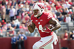 Wisconsin Badgers kick returner A.J. Taylor (4) returns a kick during an NCAA College Football game against the Florida Atlantic Owls Saturday, September 9, 2017, in Madison, Wis. The Badgers won 31-14. (Photo by David Stluka)