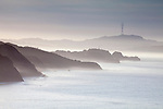 Marin Headlands in morning mist, San Francisco, CA, USA