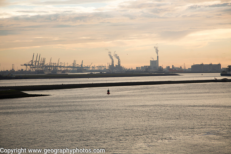 Heavy industry, Maasvlakte, Europoort, Port of Rotterdam, Hook of Holland, Netherlands
