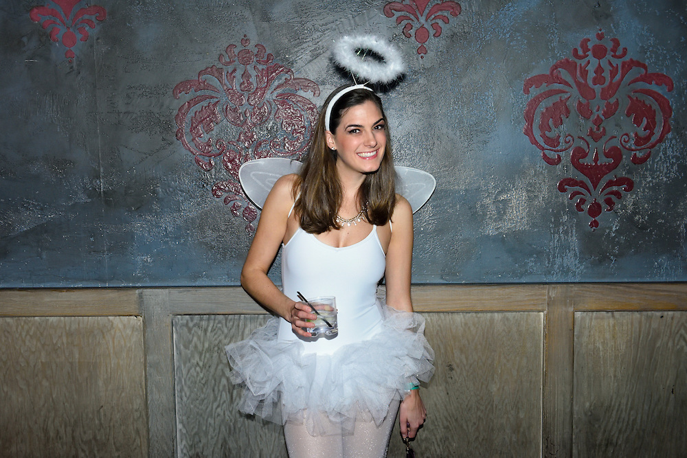 Girl in ballerina costume at a Halloween party.