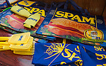Various Spam merchandise was available for purchase at the Isleton Spam Festival at Peter's Steakhouse in Isleton, California on Sunday, February 16th, 2014.  Photo/Victoria Sheridan