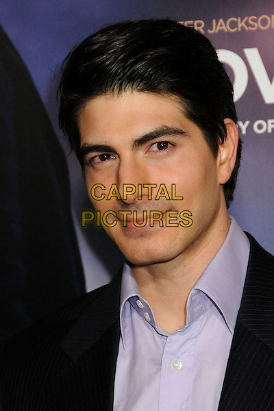 "BRANDON ROUTH.""The Lovely Bones"" Los Angeles Premiere held at Grauman's Chinese Theatre, Hollywood, California, USA, .7th December 2009..portrait headshot black  purple shirt .CAP/ADM/BP.©Byron Purvis/Admedia/Capital Pictures"