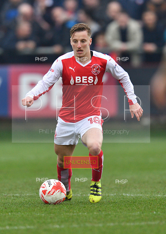 11/03/2017 Sky Bet League 1 Fleetwood Town v Bolton Wanderers<br /> <br /> George Glendon, Fleetwood Town FC