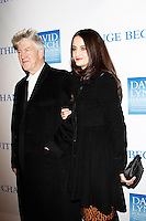 LOS ANGELES, CA - DEC 3: David Lynch, wife Emily Stofle  at the 3rd Annual 'Change Begins Within' Benefit Celebration presented by The David Lynch Foundation held at LACMA on December 3, 2011 in Los Angeles, California
