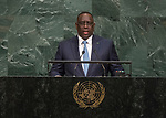 72 General Debate – 20 September <br /> <br /> by His Excellency Macky Sall, President of the Republic of Senegal