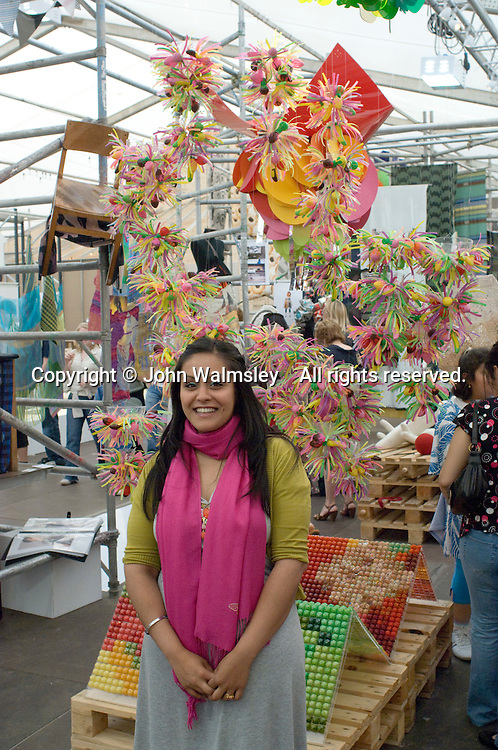 Mandeep Kaur Dhiman and her work at the Royal College of Art Degree Show, London 2007