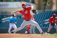 Washington Nationals pitcher Austen Williams (53) during an Instructional League game against the Miami Marlins on September 25, 2019 at Roger Dean Chevrolet Stadium in Jupiter, Florida.  (Mike Janes/Four Seam Images)