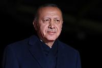 Recep Tayyip Erdogan ( President Turc )<br /> Parigi 10-11-2018 <br /> Museo d'Orsay Cena Ufficiale Capi di Stato <br /> Commemorazione 100 anni dalla fine della Grande Guerra, Prima Guerra Mondiale <br /> Foto Gwendoline LeGoff/Panoramic / Insidefoto