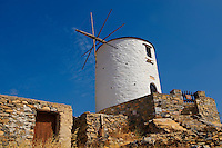 Windmills of  Ano Syros,  Syros Island [ ????? ] , Greek Cyclades Islands