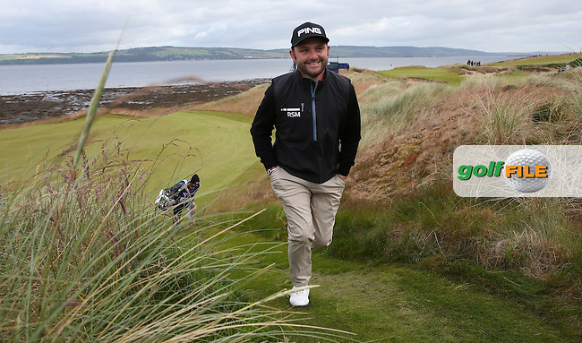 Andy Sullivan (ENG) smiling after completing the first hole during the First Round of the 2016 Aberdeen Asset Management Scottish Open, played at Castle Stuart Golf Club, Inverness, Scotland. 07/07/2016. Picture: David Lloyd | Golffile.<br /> <br /> All photos usage must carry mandatory copyright credit (&copy; Golffile | David Lloyd)