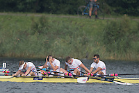 Rotterdam. Netherlands.  GBR JM4X. James Mawby, Tom Digby, Josh Armstrong and Nick Plaut 2016 JWRC, U23 and Non Olympic Regatta. {WRCH2016}  at the Willem-Alexander Baan.   Sunday  28/08/2016 <br /> <br /> [Mandatory Credit; Peter SPURRIER/Intersport Images]