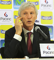 Jose Pekerman en conferencia de prensa / Press Conference, Bogotá, Colombia. 16-04-2013