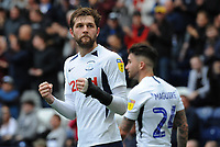 Preston North End's Tom Barkhuizen celebrates scoring his side's second goal <br /> <br /> Photographer Kevin Barnes/CameraSport<br /> <br /> The EFL Sky Bet Championship - Preston North End v Barnsley - Saturday 5th October 2019 - Deepdale Stadium - Preston<br /> <br /> World Copyright © 2019 CameraSport. All rights reserved. 43 Linden Ave. Countesthorpe. Leicester. England. LE8 5PG - Tel: +44 (0) 116 277 4147 - admin@camerasport.com - www.camerasport.com