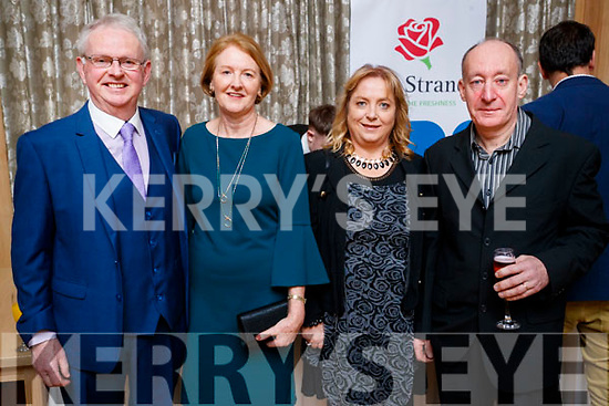 Ned Carmody and Bridie Carmody (Ballyseedy, Tralee) with Kathleen Quirke and Maurice Quirke (Tonevane, Tralee), pictured at the Lee Strand Social, at Ballygarry House Hotel & Spa, Tralee, on Saturday night last.