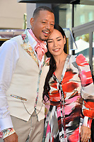 LOS ANGELES, USA. September 24, 2019: Terrence Howard & Mira Pak at Hollywood Walk of Fame Star Ceremony for actor Terrence Howard.<br /> Picture: Paul Smith/Featureflash