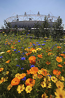 25.07.2012 London, England. The stadium in Olympic park in Stratford just two days before the official Opening Ceremony.