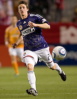 CD Chivas USA midfielder Ben Zemanski (21) sends a ball over the middle. The Houston Dynamo defeated CD Chivas USA 2-0 at Home Depot Center stadium in Carson, California on Saturday May 8, 2010.  .