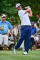 Scott Piercy (USA) watches his tee shot on 7 during round 2 of the Dean &amp; Deluca Invitational, at The Colonial, Ft. Worth, Texas, USA. 5/26/2017.<br /> Picture: Golffile | Ken Murray<br /> <br /> <br /> All photo usage must carry mandatory copyright credit (&copy; Golffile | Ken Murray)