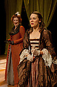 "London, UK. 07/09/2011. the Red Handed Theatre Company's production of Hannah Cowley's  1780-penned play ""The Belle's Strategem"" opens at Southwark Playhouse. Maggie Steed (as Mrs Racket) and Gina Beck (as Letitia Hardy). Photo credit: Jane Hobson"