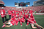 Wisconsin Badgers men's Hockey team during an NCAA College Football game against the Florida Atlantic Owls Saturday, September 9, 2017, in Madison, Wis. The Badgers won 31-14. (Photo by David Stluka)