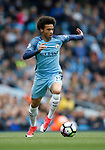Leroy Sane of Manchester City during the English Premier League match at the Etihad Stadium, Manchester. Picture date: May 6th 2017. Pic credit should read: Simon Bellis/Sportimage
