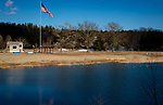 WOODBURY,  CT-031219JS08- Town officials are looking into changes to the pond at Hollow Park in Woodbury. They are considering putting in grass where the beach is located and make it a picnic area. <br /> Jim Shannon Republican American