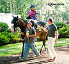 Hoorayforhollywood before The Damitrius Stakes at Delaware Park on 9/4/13