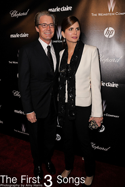 Kyle MacLachlan and Desiree Gruber attend the 2012 Weinstein Company Golden Globes After Party at The Beverly Hilton Hotel in Beverly Hills, CA on January 15, 2012.