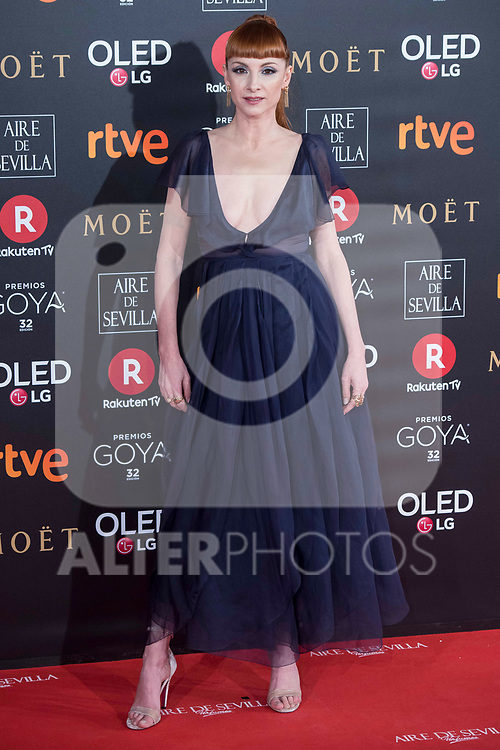 Najwa Nimri attends red carpet of Goya Cinema Awards 2018 at Madrid Marriott Auditorium in Madrid , Spain. February 03, 2018. (ALTERPHOTOS/Borja B.Hojas)