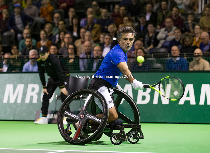 Rotterdam, The Netherlands, 16 Februari 2019, ABNAMRO World Tennis Tournament, Ahoy, Wheelchair singles, Final, Stephane Houdet (FRA),<br /> Photo: www.tennisimages.com/Henk Koster
