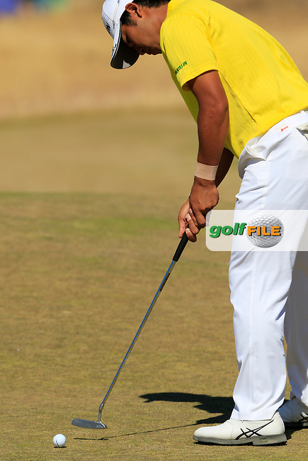 Hideki Matsuyana (JPN) putts on the 6th green during Friday's Round 2 of the 2015 U.S. Open 115th National Championship held at Chambers Bay, Seattle, Washington, USA. 6/19/2015.<br /> Picture: Golffile | Eoin Clarke<br /> <br /> <br /> <br /> <br /> All photo usage must carry mandatory copyright credit (&copy; Golffile | Eoin Clarke)