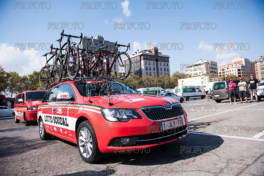Castellon, SPAIN - SEPTEMBER 7: Lotto Soudal during LA Vuelta 2016 on September 7, 2016 in Castellon, Spain