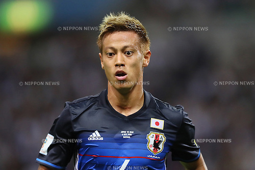 Keisuke Honda (JPN), <br /> OCTOBER 6, 2016 - Football / Soccer : <br /> FIFA World Cup Russia 2018 Asian Qualifier <br /> Final Round Group B <br /> between Japan 2-1 Iraq <br /> at Saitama Stadium 2002, Saitama, Japan. <br /> (Photo by YUTAKA/AFLO SPORT)