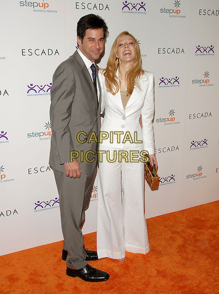 JONATHAN SILVERMAN & JENNIFER FINNIGAN.The Step Up Women's Network Inspiration Awards sponsored by Escada ,held at The Beverly Hilton Hotel in Beverly Hills, California, USA. .April 27th, 2006.Ref: DVS.full length white suit jacket trousers grey gray.www.capitalpictures.com.sales@capitalpictures.com.Supplied By Capital PIctures