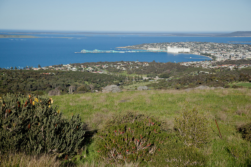 Port Lincoln from Winters Hil. Eyre Peninsula South Australia