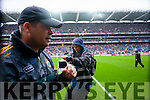 Eamon Fitzmaurice, Kerry Manager,  Kerry players after defeating Tyrone in the All Ireland Semi Final at Croke Park on Sunday.