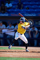 Michigan Wolverines designated hitter Dominic Clementi (13) at bat during a game against Army West Point on February 17, 2018 at Tradition Field in St. Lucie, Florida.  Army defeated Michigan 4-3.  (Mike Janes/Four Seam Images)