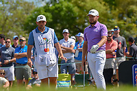 Tyrrell Hatton (ENG) looks over his tee shot on 7 during round 4 of the Arnold Palmer Invitational at Bay Hill Golf Club, Bay Hill, Florida. 3/10/2019.<br /> Picture: Golffile | Ken Murray<br /> <br /> <br /> All photo usage must carry mandatory copyright credit (© Golffile | Ken Murray)
