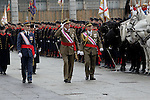 Military Christmas at Madrid Royal Palace. King Juan Carlos and Royal Guard...Photo: MAC / ALFAQUI