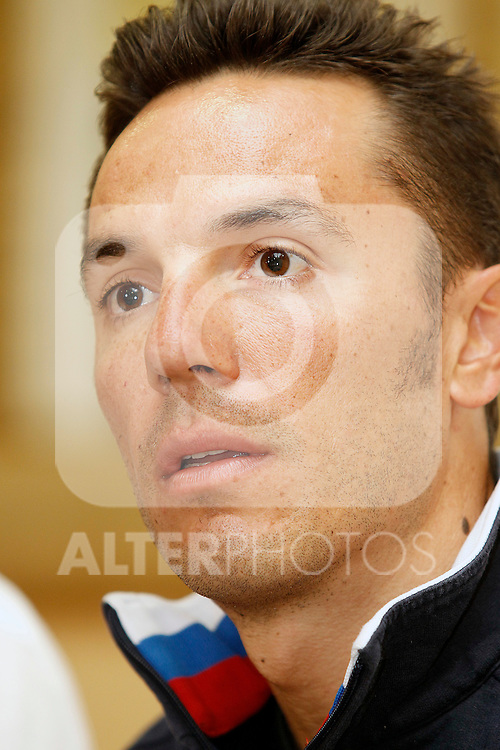 Joaquin Purito Rodriguez in press conference during the rest day of La Vuelta 2012.August 27,2012. (ALTERPHOTOS/Acero)
