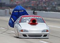 Apr. 26, 2013; Baytown, TX, USA: NHRA top sportsman driver Lonnie Sumner during qualifying for the Spring Nationals at Royal Purple Raceway. Mandatory Credit: Mark J. Rebilas-